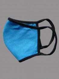 Mund-und Nasen-Maske Behelfs-Mundschutz blau seite