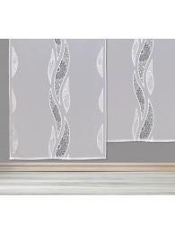 Elegante Schiebepaneele Carmen mit geradem Abschluß in weiß