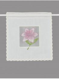 Plauener Stickerei-Scheibenhänger Lilie rosa