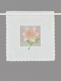 Plauener Stickerei-Scheibenhänger Lilie lachs