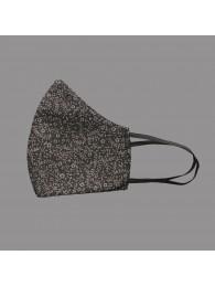 Mund-und Nasen-Maske Behelfs-Mundschutz schwarz-grau