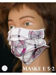 Bestickte Mund-und Nasen-Maske Behelfs-Mundschutz Kreise beere