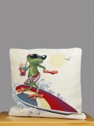 Gobelin-Kissenhülle Frosch...
