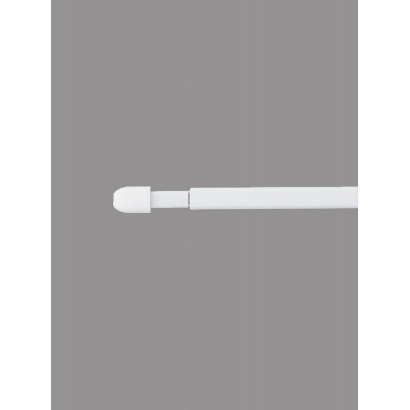 Ausziehbare weiße Vitragenstangen in 4 Längen.