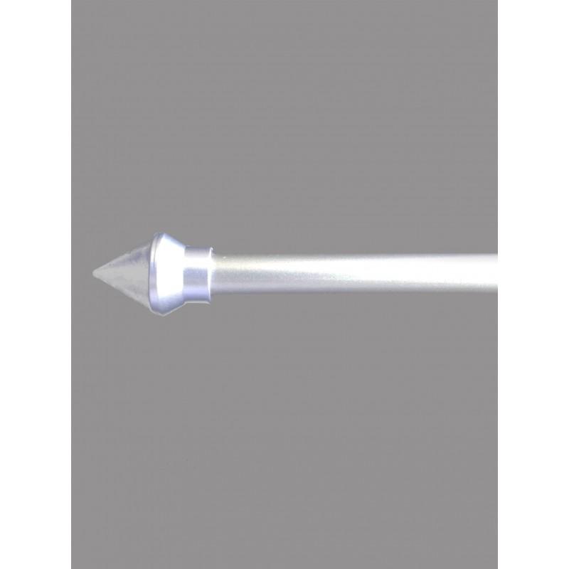 Silberne Zier-Stangen für die Gardinenbeschwerung