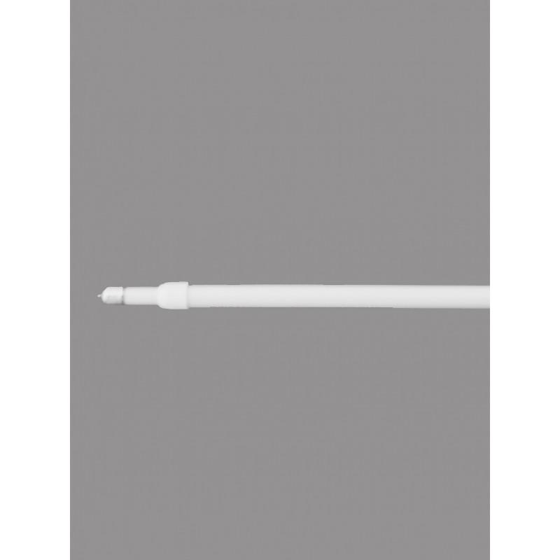 Weiße Pinn-Gardinenstangen mit spitzen Enden