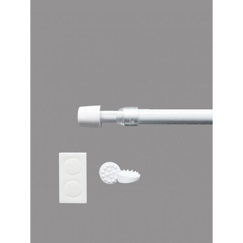 Praktische Pinn-soft Gardinenstangen in weiß