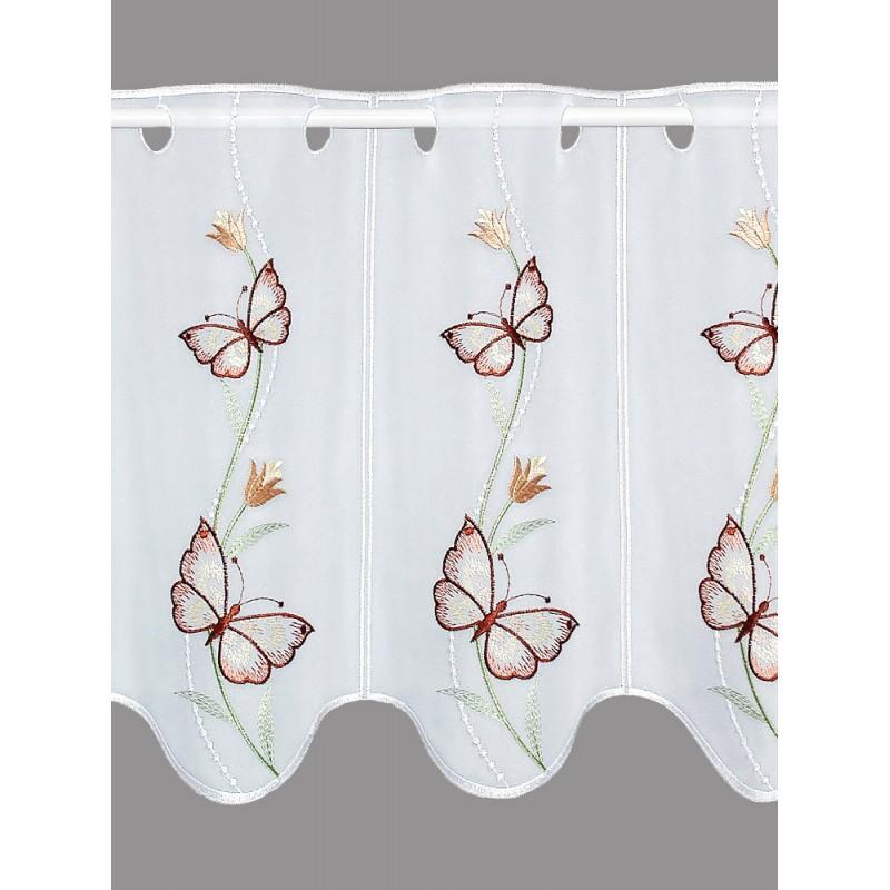 Kurzgardine Schmetterlinge in der Blumenranke
