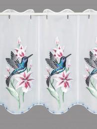 Stickerei-Scheibengardine Kolibri