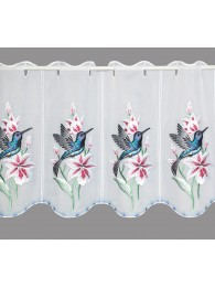 Stickerei-Scheibengardine Kolibri klein