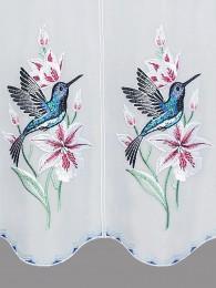 Stickerei-Scheibengardine Kolibri detail