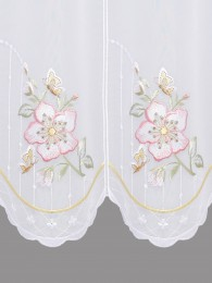 Scheibengardine Wildrose detail