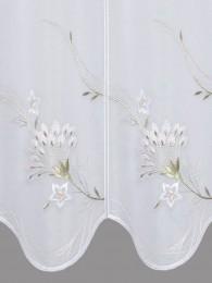 Kurzgardine Blumenranke detail