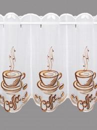 Moderne Stickerei-Bistrogardine Coffee