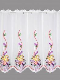Scheibengardine Küken mit Schleife in lila