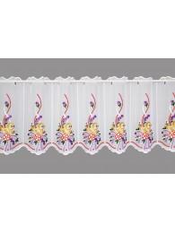kleine scheibengardine Küken mit Schleife in lila