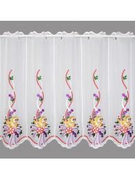 große scheibengardine Küken mit Schleife in lila