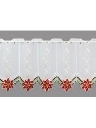 kleine Kurzgardine Eleganter Weihnachtsstern