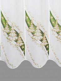 Scheibengardine Wintertanne detailbild