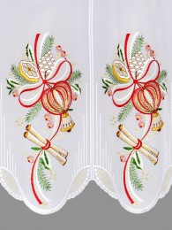 Scheibengardine Weihnachtszauber detail