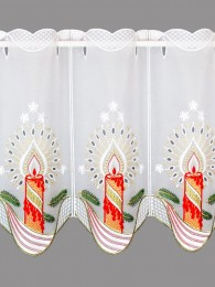 Weihnachtsgardine Festliche Kerze