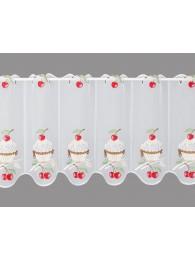 Küchengardine Kirsch-Cupcake klein
