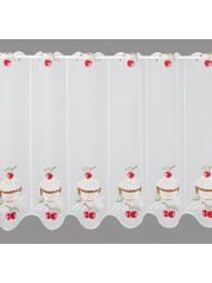 Küchengardine Kirsch-Cupcake gross