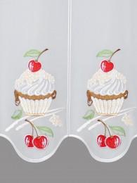 Küchengardine Kirsch-Cupcake detail