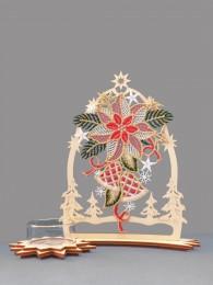 Teelichthalter Weihnachtsstern