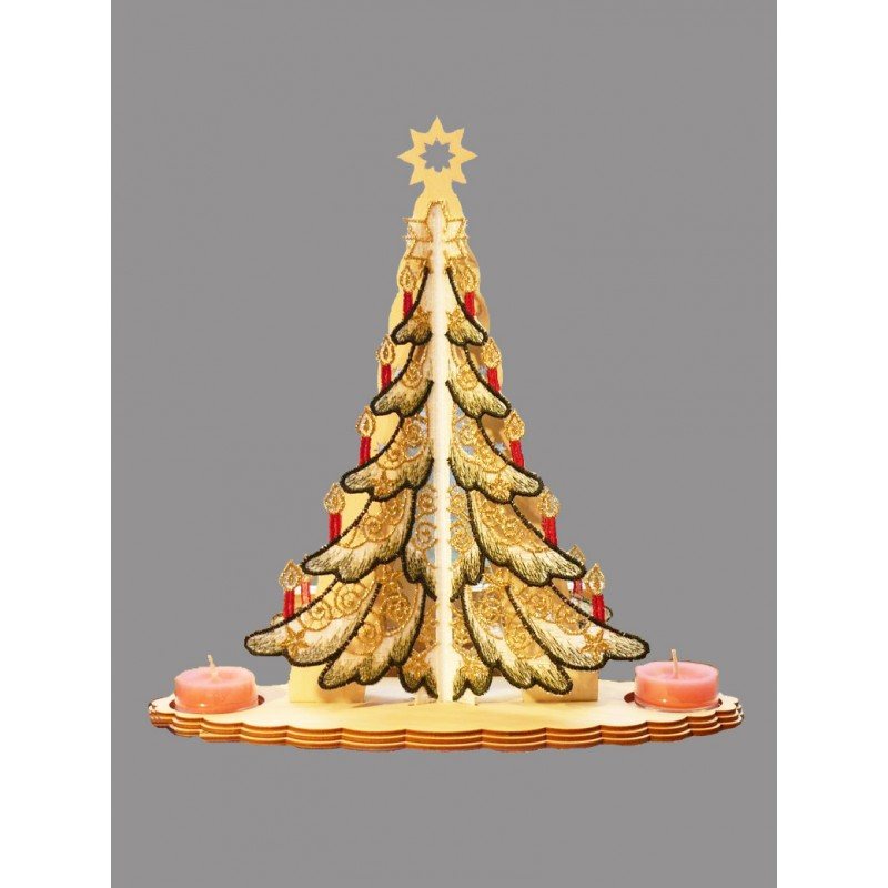 Teelichthalter Weihnachtsbaum in 3D