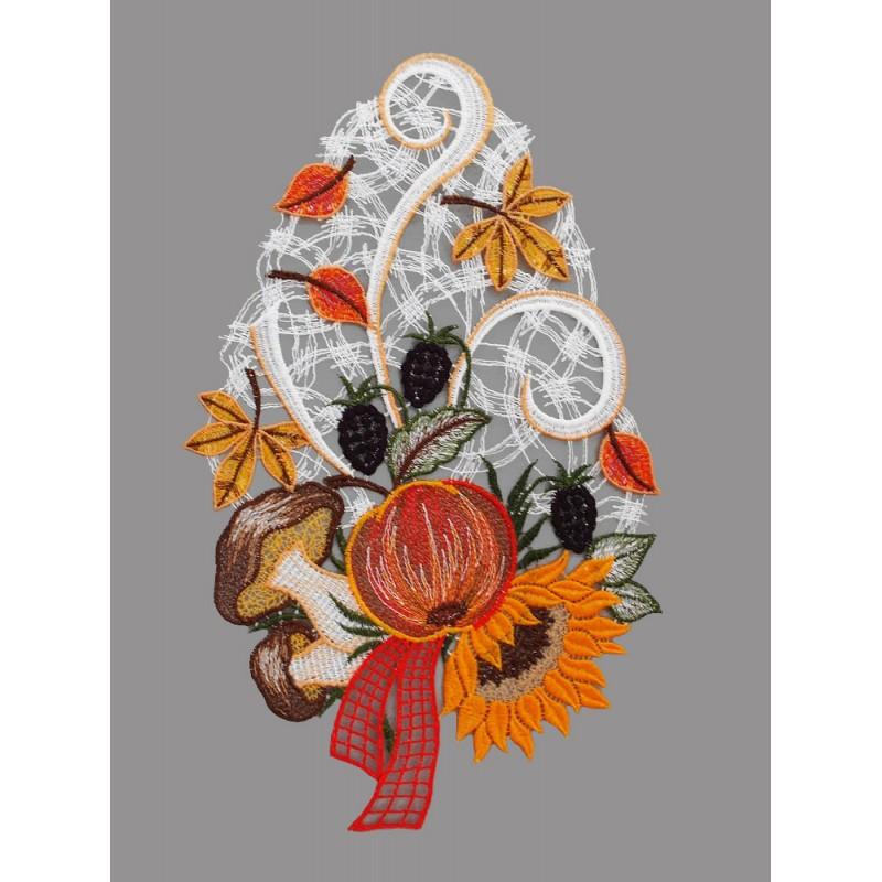 Fensterbild Herbstblumen