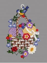 Fensterbild Eierkorb mit...