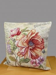 Gobelin Kissen Blumenstrauss