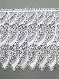 Weiße Spitzengardine Malu