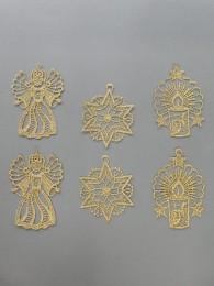 Baumbehang Mix in Gold 6er Set