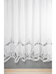 Plauener Spitzen-Gardine Arlette in weiß