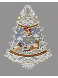 Fensterbild Glocken mit Sternenhimmel