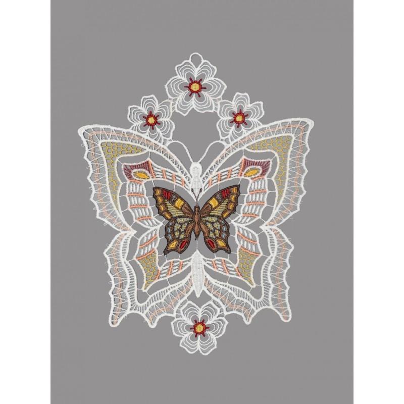 Fensterbild Großer Schmetterling mit Blüten