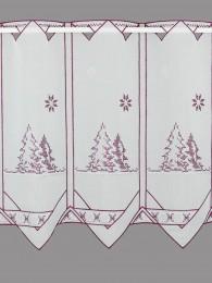Kurzgardine Anouk in weinrot-silber