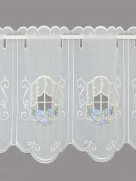 Kurzgardine Blumenfenster...